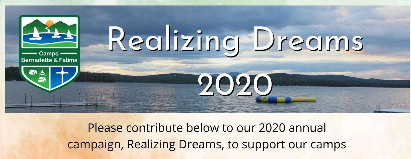 Realizing Dreams 2020 Info